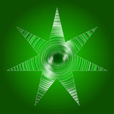 Abstract green star Royalty Free Stock Images