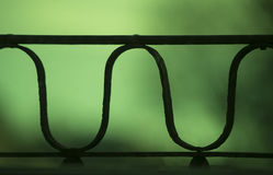Abstract green steel object Royalty Free Stock Images