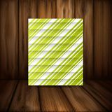 Abstract Green Stripe Background Stock Photography
