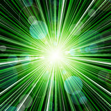 Abstract green stripes burst background Stock Photography