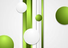 Abstract green stripes and circles background Royalty Free Stock Images