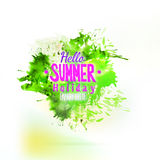 Abstract green summer watercolor splash element Royalty Free Stock Photo
