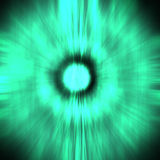 Abstract green sun with rays Stock Photo