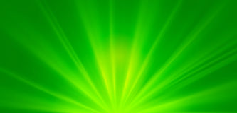 Abstract green sunrays, environmental concept spring background Stock Images