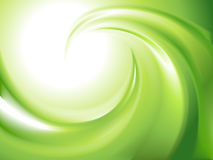Abstract green swirl vector illustration