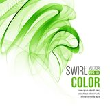 Abstract green swirl background. Vector Stock Photo