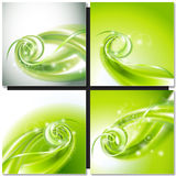 Abstract green swirl background Royalty Free Stock Image