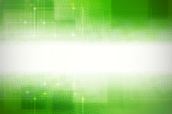 Abstract green tech background. Stock Photo