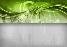 Abstract green tech Stock Images