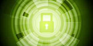 Abstract green tech security background Royalty Free Stock Image