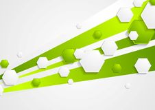 Abstract green tech vector background Stock Images