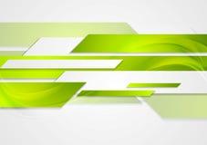 Abstract green tech wavy background Stock Photos