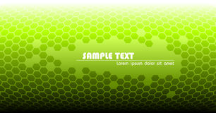 Abstract green technical background. Made from hexagons