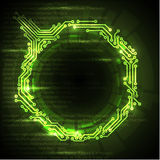 Abstract green technical background Stock Photos