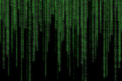 Abstract green technology binary background. Binary Computer Cod royalty free stock photography