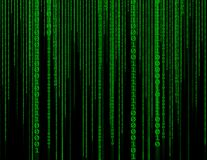 Abstract green technology binary background. Binary Computer Cod stock image