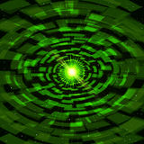 Abstract Green Technology Tunnel with bright flare. Vector illustration Royalty Free Stock Image