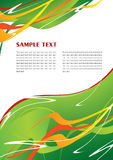 Abstract green template Stock Images