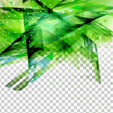 Abstract green top oriented decor Stock Photography