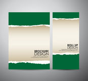 Abstract green Torn paper. Graphic resources design template. Stock Photo