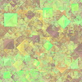 Abstract green transparent squares Royalty Free Stock Photography