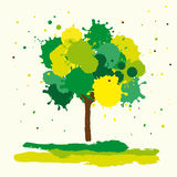 Abstract green tree Royalty Free Stock Images