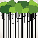 Abstract green tree background Stock Photography
