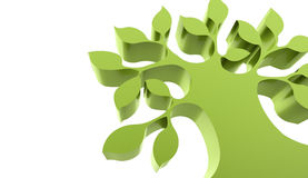 Abstract green tree business concept. On white Stock Photo