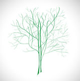 Abstract green tree. Royalty Free Stock Photography