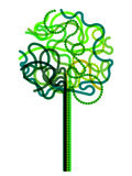 Abstract green tree symbol Stock Images