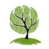 Abstract green tree for your design Royalty Free Stock Photography