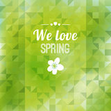 Abstract green triangle background, spring design,  Royalty Free Stock Photo