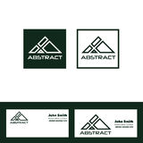 Abstract green triangle logo Stock Image