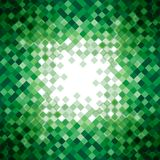 Abstract green triangle mosaic background design Royalty Free Stock Image