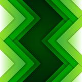 Abstract green triangle shapes background Stock Image