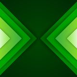 Abstract green triangle shapes background Stock Photos