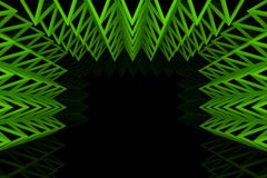 Abstract green triangle truss wall Royalty Free Stock Photos
