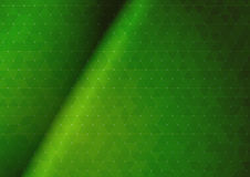 Abstract green triangular background Stock Photos