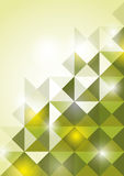 Abstract green ttriangle background. Illustration Royalty Free Stock Images