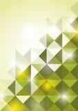 Abstract green ttriangle background. Illustration stock illustration
