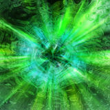 Abstract green tunnel Stock Photo