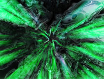 Abstract green tunnel Stock Photography