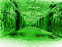 Abstract green tunnel Stock Photos