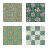 Abstract green urban geometric seamless pattern set. Squares, stripes, lines. Modern grunge, texture background Stock Photography