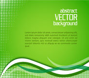 Abstract green vector background Royalty Free Stock Photos