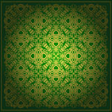 Abstract green vector baroque background Royalty Free Stock Photo
