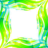 Abstract green vector wave ripples frame Stock Image