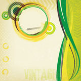 Abstract green vintage brochure. With circles Stock Image