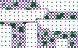 Abstract green and violet background with mesh of squares. Geometric template with white technical panels. Mosaic vector illustrat. Ion vector illustration