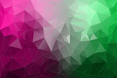Abstract green and violet polygonal background. Stock Photos